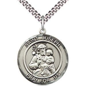 Sterling Silver St Joseph Pendant